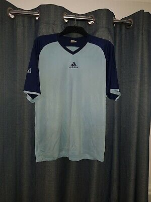 Vintage 00s Adidas Centre Logo Spell Out T-Shirt Men's Medium Tee M Climalite