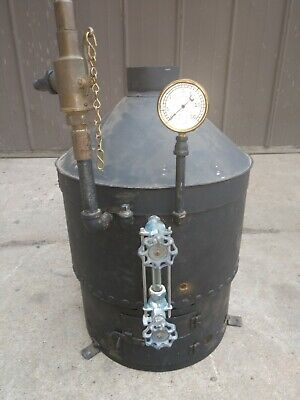 Antique Stationary Steam Engine Boiler