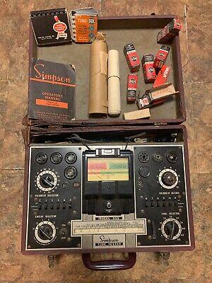 Vintage Simpson Model 555 Vacuum Tube Tester Analyzer