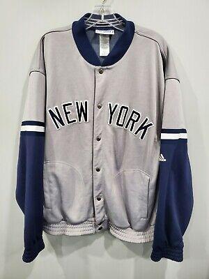 Vintage 90s Adidas New York Yankees Bomber Varsity Dugout Jacket Mens L