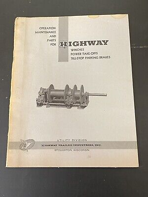 Vintage Highway Trailer Ind Well Boring Drill Rig Manual Winch Pto Brakes