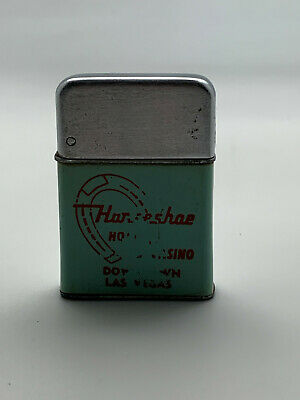 Vintage Horseshoe Hotel Casino Green Lighter Plastic/Metal Rare Las Vegas Casino