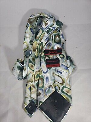 Jerry Garcia Mens Silk Modern Furniture Tie Collection 55 Geometric Print Green Jerry Garcia Modern Furniture