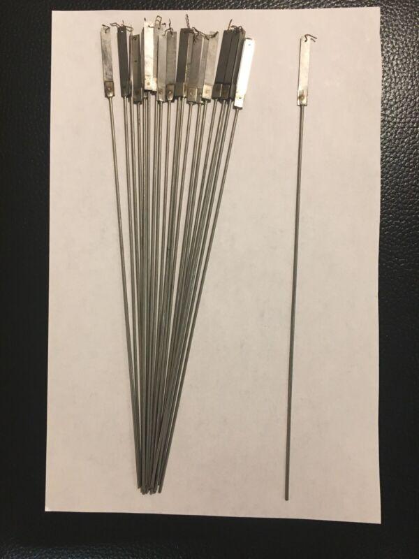 """Antique Clock Parts- Pendulum Rod Suspension Spring- Set Of 20 Units 10"""" ( New )"""