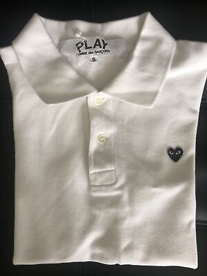 Comme Des Garçons PLAY Polo Shirt Boys Small Made In Japan