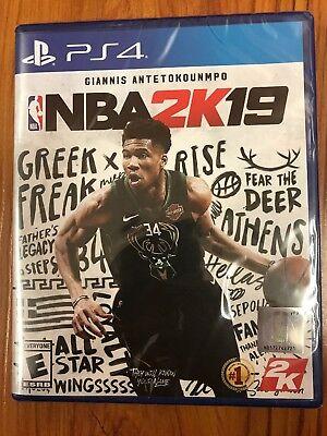 NBA 2K19 PS4 Sony Playstation 4 Brand New Factory Sealed 2019