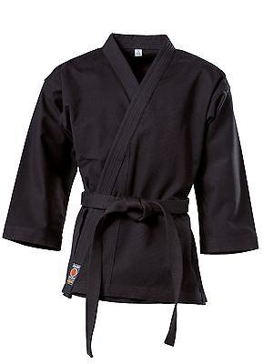 Kwon Karate Jacke black. 8Oz, 100% Baumwolle, in 200cm. Budo Sport,Wing Tsun, SV