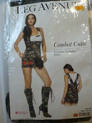 Combat Cutie Camouflage Military Army Dress Costume Leg Avenue 83775 Size Med - Combat Cutie Kostüm