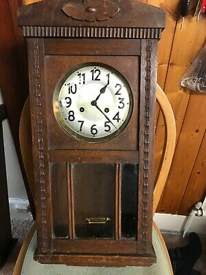 Edwardian Wall Clock for spares or repair