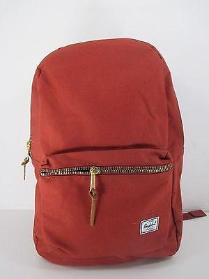 Herschel Supply Settlement Backpack Brick Red Full Zip Medium Pack DEFECT