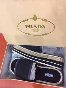 Prada's black sandals