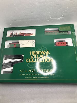 Dept. 56 Heritage Christmas Village Express HO Scale Train & Track Set.