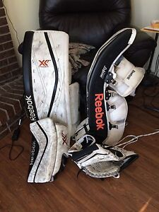 Reebok XLT Goalie pads and Glove and Blocker