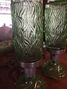 Vintage glass bed lamps $50-obo