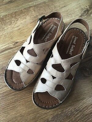 Josef Seibel European Comfort Leather Sandals Tan/Beige EUR 39 (UK Size 6)