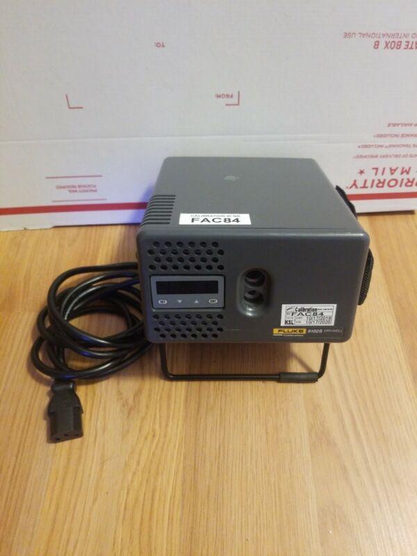Fluke Hart 9102S Drywell Calibrator with probe, 4 inserts, & case, -10C to 122C