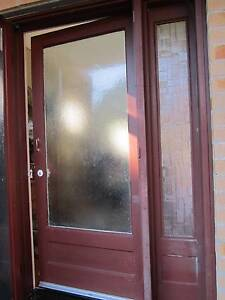 FRONT DOOR WITH HIGHLIGHTS  AND SECURITY SCREEN DOOR WITH LOCK Northbridge Willoughby Area Preview