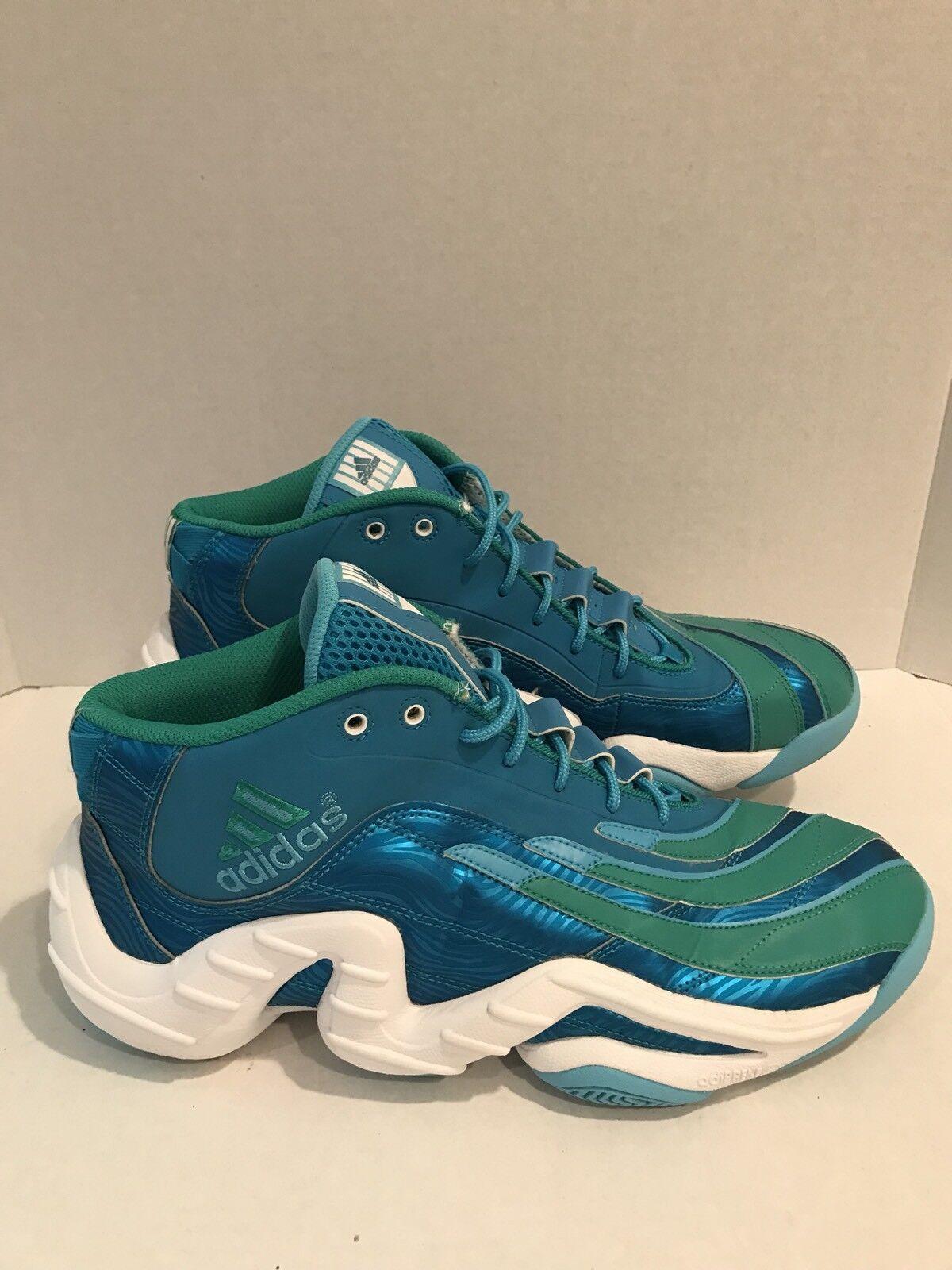 best service c42f1 a31d3 Спортивная обувь для мужчины Adidas Real Deal Retro Basketball Sneakers  Q32864 Teal White Men s Sz 12 - 292848285872 - (США)
