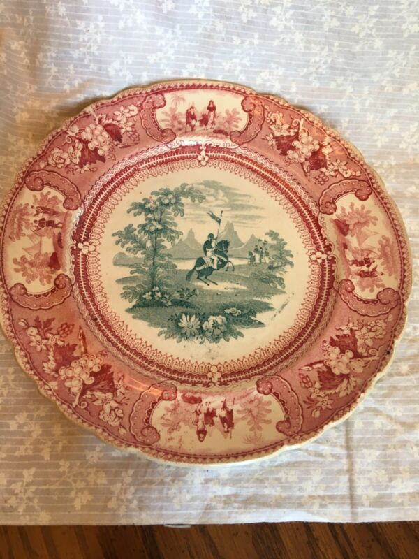 antique plate Belzoni Enoch wood and Sons in Staffordshire E S & S 1830