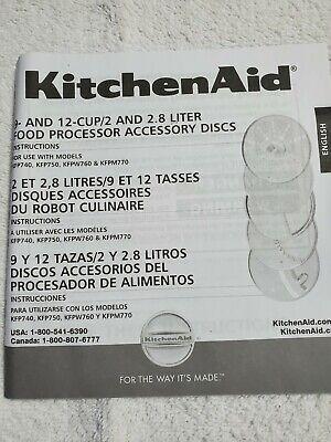 KitchenAid Kitchen Aid 9 12 Cup 5 Disk SET Food Processor Accessories KFP7DS