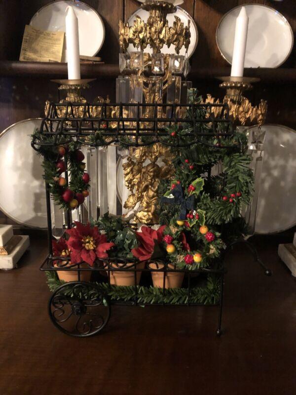 Byers Choice Accessory Christmas Flower Cart 2009