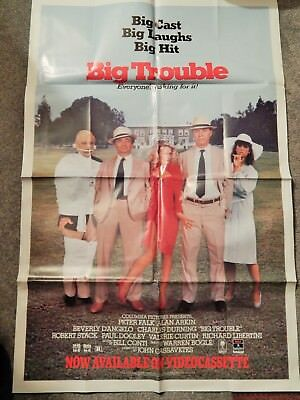 BIG TROUBLE (VIDEO DEALER 40 X 27 POSTER!, 1980S) BEVERLY D'ANGELO, PETER FALK