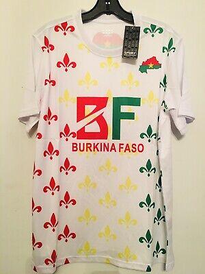 2021 Burkina Faso White World Cup Qualifying Training Soccer jersey Large