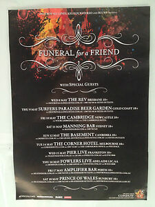 FUNERAL-FOR-A-FRIEND-2013-Australian-Tour-Poster-Conduit-Casually-Dressed-A2-NEW