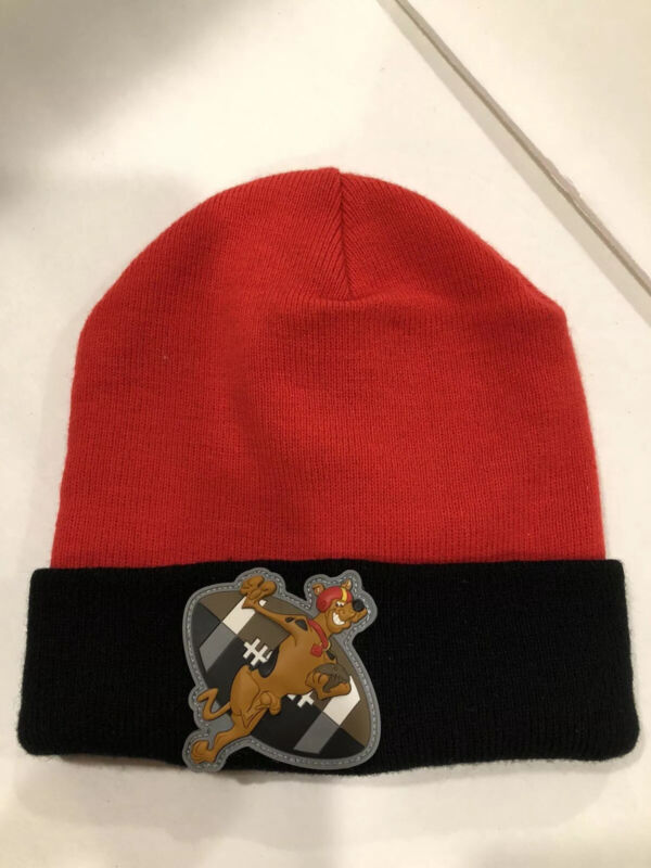 Scooby-Doo  Beanie Hat Red And Black Football