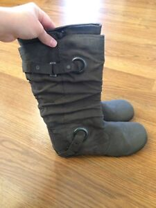 Grey boots - women's size 8