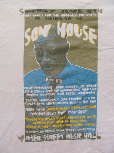 Water Street Music Hall 2008 NY SON HOUSE Tribute T shrt Men