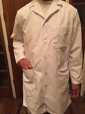 Men's Meta White 3 Pocket Lab Coat Length 38
