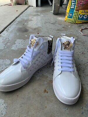 Authentic White Medusa Versace Men's Size 11 Used Shoes