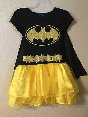 Batgirl Tutu Dress (BATMAN SuperHero Batgirl halloween Costume Girls Tutu Dress size)