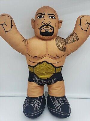 """2012 Mattel WWE THE ROCK Talking Wrestling Brawlin Buddies 17"""" Needs New Batteri"""