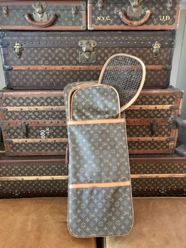 ANTIQUE VINTAGE LOUIS VUITTON MONOGRAM TENNIS TRUNK CASE TRAVEL BAG -  #2