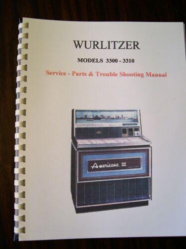Wurlitzer Model 3300/3310 Jukebox Manual