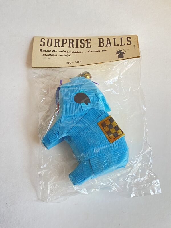 Vintage 1960s Surprise Ball Elephant Made In Japan   Vintage Party Supplies