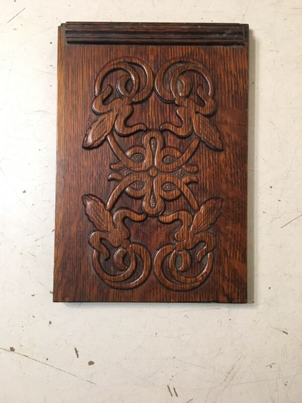 Antique Ornate Singer Sewing Cabinet Oak Front Door Panel