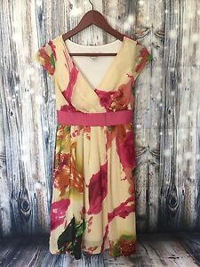 Jonathan Martin Women's Dress Floral Print Cap Sleeve Short dress  Size 6 Petite