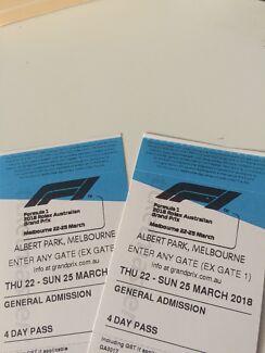 Grand Prix tickets. 4 day pass. Starts Thursday!! Worth $370