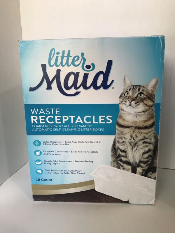 LitterMaid Cat Waste Receptacles 18 Count New