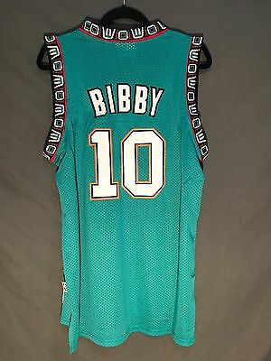 Nwt Mike Bibby  10 Vancouver Grizzlies Throwback Basketball Jersey Green Men