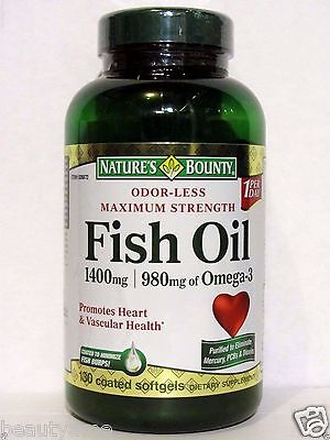 Natures Bounty Maximum Strength Fish Oil 1400Mg  980Mg Of Omega 3  130 Softgels