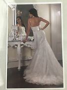 Essense wedding gown size 6-8 lace over crushed taffeta Palmyra Melville Area Preview