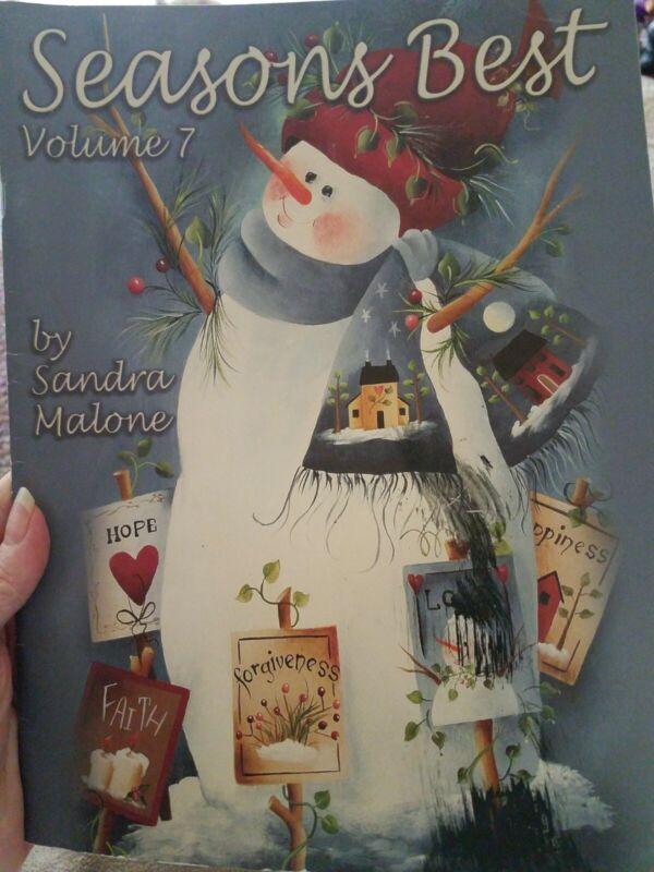 Seasons Best Volume by Sandra Malone DECORATIVE TOLE PAINTONG PATTERN BOOK