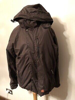 Iguana - Male Dark Brown Hooded Ski Jacket  (detachable Fleece) - Size Small na sprzedaż  Wysyłka do Poland