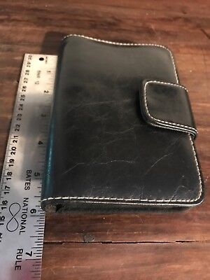 File System Hand Held Leather Bound With Snap Strap Tabs Yearly Weekly Etc