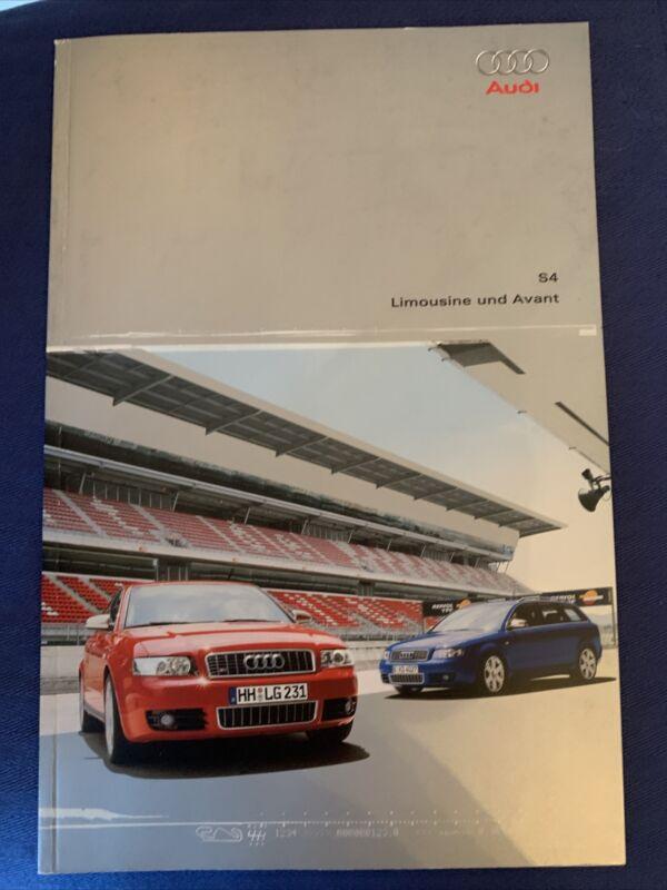 Audi S For Limousine Und Avant Brochure  Original Very Good
