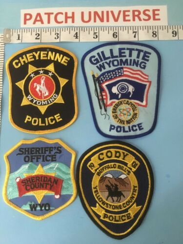 LOT OF 4 DIFFERENT WYOMING  SHOULDER PATCHES  6024